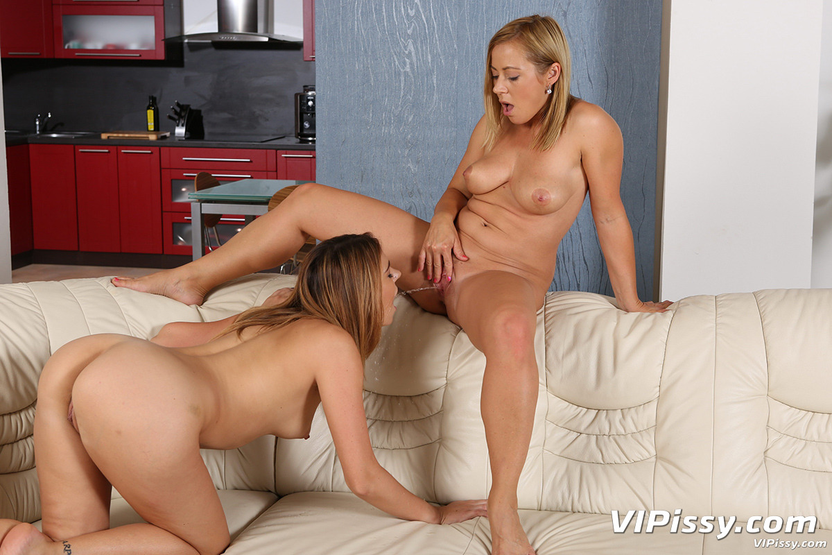 Lesbian piss drinking fun with beautiful babes 10